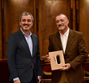 Arturo Perez Reverte awarded for his work.