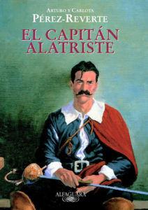 El Capitan Alatriste in different book cover.