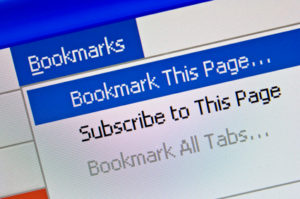 Bookmarks are very easy to access.