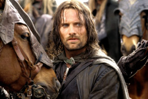 Viggo Mortensen as Aragorn in the Lord of Rings.